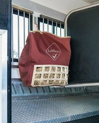 LeMieux Canvas HAY TIDY Window BAG Travel/Stable Dust Free Prolong Feed Burgundy