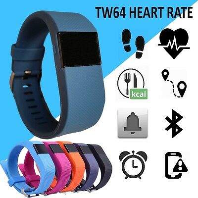 TW64s Heart Rate Monitor Fitness Activity Tracker HR Measure Steps Calories HR