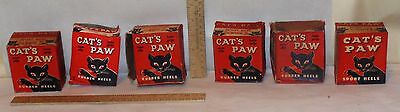 6 Vintage Shoe HEELS with BOXes - CAT'S PAW Older Shoe Repair Stock - listing 13