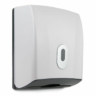 Paper Towel Dispenser Wall Mounted Compact Mini Design Toilet Bathroom White