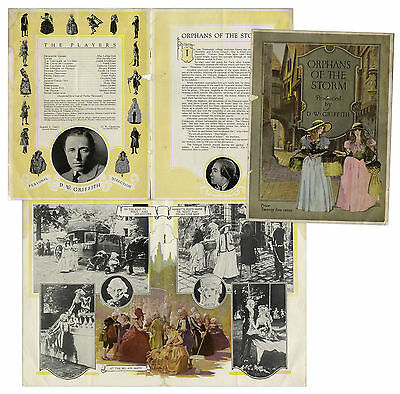 1921 Program D.W. Griffith Film ''Orphans of the Storm''
