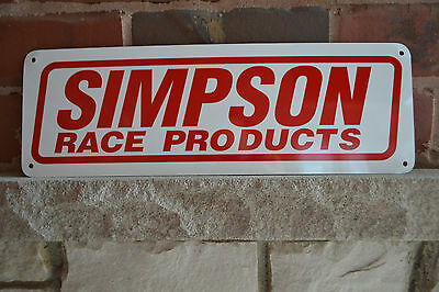 Simpson Race Products Racing Gear Logo Garge Sign Hotrod Dragster