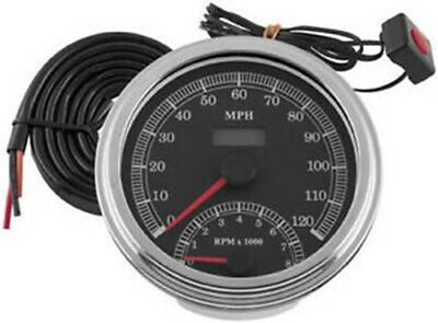 Bikers Choice - 169350 - Cable Driven Speedometer/Tach Combo, Harley Davidson