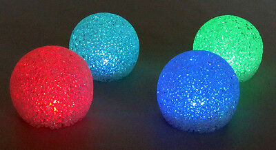 Floating Glitter Globes - Color changing light for patio, pool or home - 4 Pack