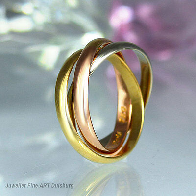 """Ring Cartier """"Trinity"""" 750 Gelb/Weiß/Rotgold"""
