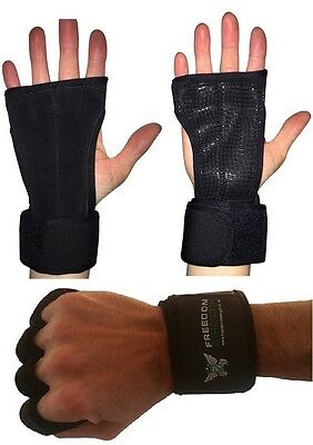 Black Crossfit Training Gloves palm protectors guards for Fitness Weightlifting