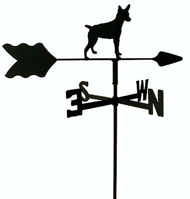 Rat Terrier Garden Weathervane Wrought Iron Look Made In Usa Tls1041In