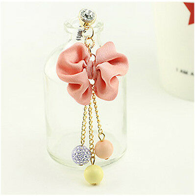 [Habeebuy] Cute Bow With Color Ball Mobile Dust Plug
