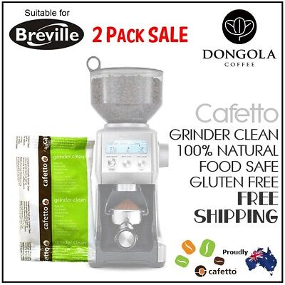 2PK BREVILLE Coffee Grinder Clean Conical / Burr Cleaner Sachet Urnex / Cafetto