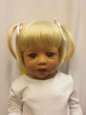 """NWT Monique Madeline Pale Blonde Doll Wig 16-17"""" fits Masterpiece Doll(WIG ONLY"""