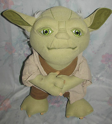 "Large size Talking Yoda Plush Star Wars Figure Doll 15"" Mouth moves Underground"