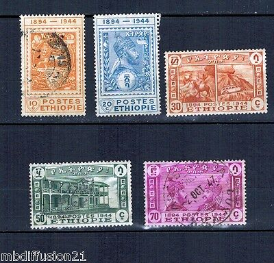 1947-Ethiopie//serie Poste(5.val)//timbre.obl.y/t.245/9