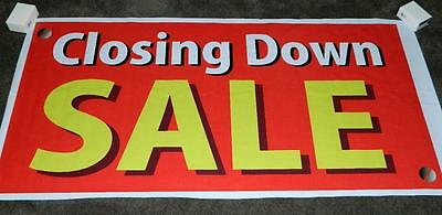 """CLOSING DOWN SALE"" 4 ft. X 2 ft. - Ready-made Banner !"