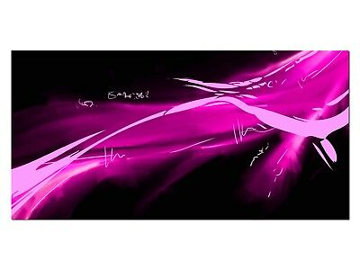 HD Glasbild EG4100501380 ABSTRAKT WELLE PINK 100 x 50 cm Wandbild DESIGN