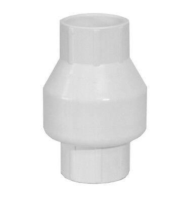 """1.5"""" PVC Swing Check Valve for Swimming Pool Plumbing and Solar Systems"""