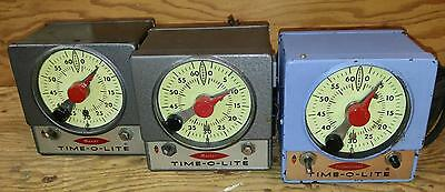 (LOT OF 3) Time-O-Lite Industrial Darkroom timers (P-59,M-59, M-72)