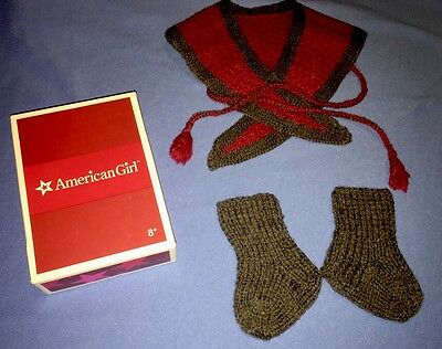 American Girl Addy Heartwarmer, Slippers, Pamphlet IN BOX!