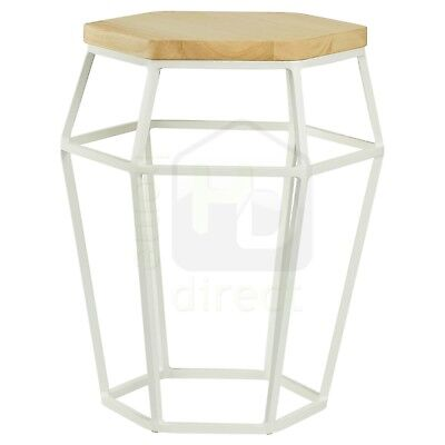 FORD Modern Scandinavian Retro Danish Occasional Side Coffee Table Stool White