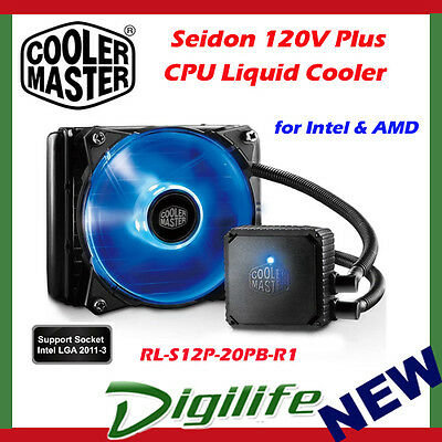 Cooler Master Seidon 120V PLUS Multi Socket CPU Water Liquid Cooler coolermaster