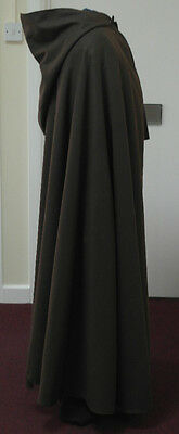 Merlins Medieval Closet Brown Wool-blend Cloak/Festival / LOTR/Pagan/Halloween