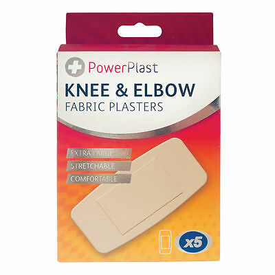 5pcs Knee And Elbow Plasters Extra Padded Fast Healing Flexible FREE POST