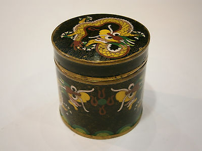 Antique China Chinese Box Case Cloisonne Enamel Dragon 1900's