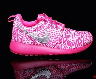 4142ddce3ac82 NIKE ROSHE RUN Print GS Running Shoes WOMENS 8 = 6.5 Youth 100 ...