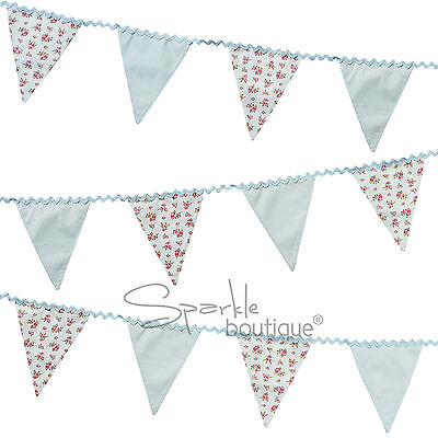 Shabby Chic/Vintage Floral FABRIC BUNTING -TRULY SCRUMPTIOUS - Material/Cloth