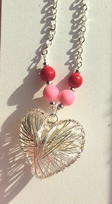 For my Valentine.  Heart Necklace.  Believe In Love.  For Valentine