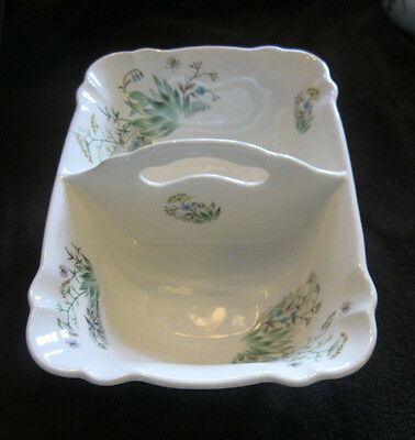 Vintage IVA-LURE by CROOKSVILLE Beautiful WILDFLOWER Divided Serving Dish