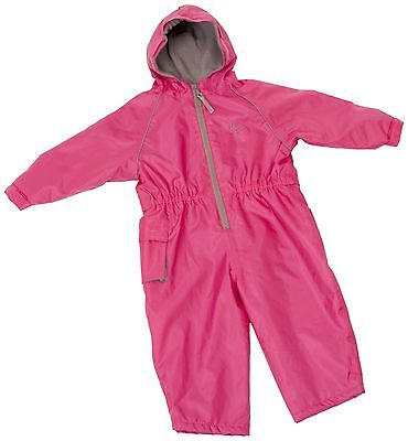 Hippychick Fleece Lined Waterproof All-in-One Suit - Pink 18-24 Months