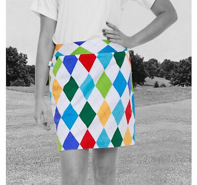 Ladies GOLF SKORT  Loud and Funky Royal & Awesome - Size UK14 /Euro 40 /USA 10