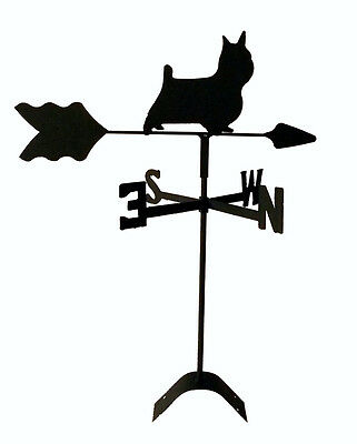 silky terrier  roof weathervane black wrought iron look made in usa TLS1054RM