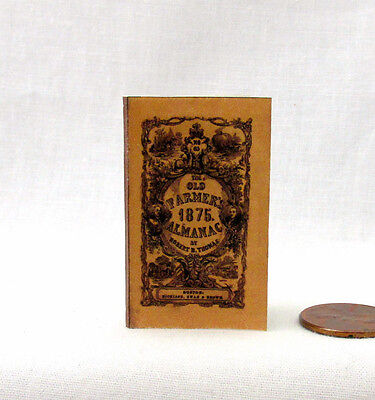 THE FARMER'S ALMANAC 1:6 Scale Book Readable Illustrated Miniature Book
