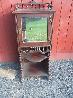 VINTAGE  Victorian Walnut Music Stand with gallery