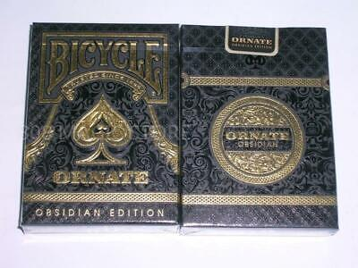 1 Set 2 Deck BICYCLE Ornate Obsidian edition by HOPC~USPCC +Golden Box S10317986