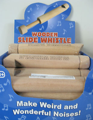 Wooden Slide Whistle Blow & Slide End In & Out To Make Melody Sirens & Whistles