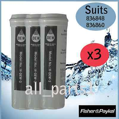 3 X Fisher & Paykel Fridge 836848, 836860 Quality Replacement Water Filter