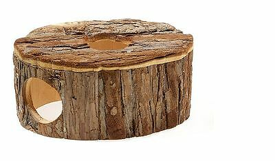 Natural Wooden Oval House Hideaway for Gerbils Mice & Hamsters