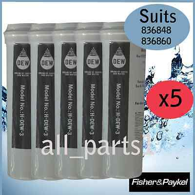 5 X Fisher & Paykel Fridge 836848, 836860 Quality Replacement Water Filter