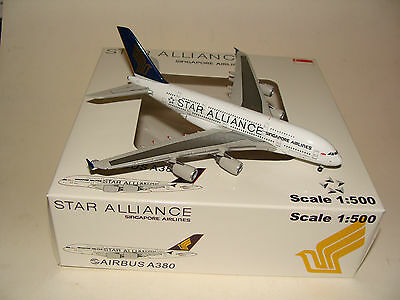 Die Cast 500 Singapore A380 Star Alliance Herpa 500 Scale free shipping