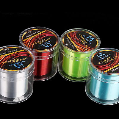 Multifilament Line Monofilament 500M Nylon Fishing Line 10 Sizes Rock 4 Colours