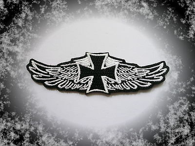 Iron Cross,Wings,Aufnäher,Patch,Aufbügler,Chopper,Biker,Iron On,Badge