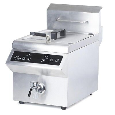 Induktionsfriteuse Induktion Friteuse Fritteuse 8L 3500W Induktionsfritteuse