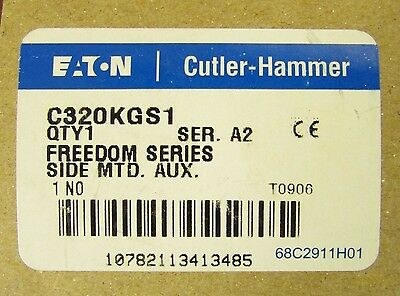 EATON CUTLER HAMMER C320KGS1 Freedom Series 1 N.O Side Mount Auxiliary C320 KGS1