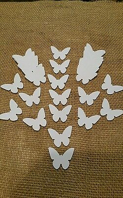 50 Pure White Butterflies
