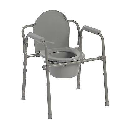 Heavy Duty Adult Bedside Commode Chair Toilet Seat Bucket Bathroom Fold Portable