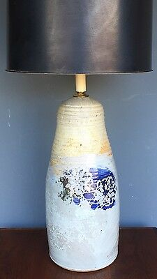 Vintage Jim Ulmer Studio Pottery Lamp RARE Signed + Dated XXL