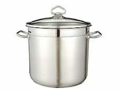 Stainless Steel LARGE Stock Pots FREE UK POSTAGE (20 Litres / 30cm)