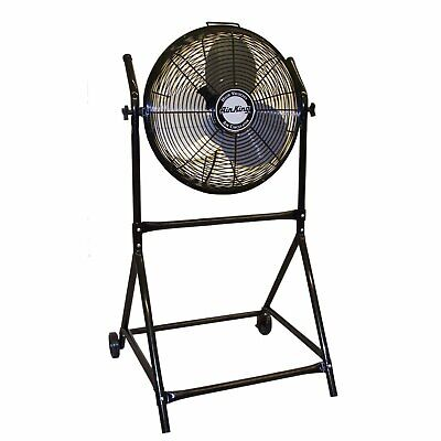 "Air King 9219 18"" 1/6 HP Industrial Grade High Velocity Pivoting Floor Fan"